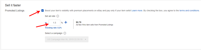 ebay listing promotions