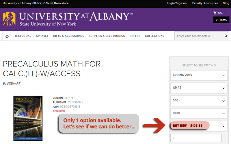 university online book store